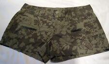 Express  Shorts  Floral Rhinestones Sparkles Flap Pockets size 6