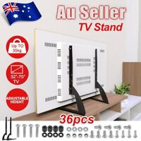 Universal Table Top TV Stand Legs Pedestal Bracket Mount Base For 32~70'' Screen