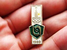 Vintage Soviet Badge Pin Sport Olympics 1980 Moscow,Field hockey,Icon USSR