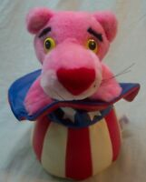 """PATRIOTIC PINK PANTHER IN UNCLE SAM HAT 10"""" Plush STUFFED ANIMAL Toy 1998"""