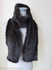 Winer /Men  real mink fur knitted  scarf /cape/  170*15  brown