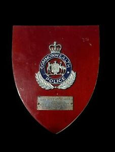 Scarce Commonwealth Police plaque presented to the SASR  - Dated 1977