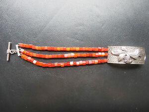 SILPADA - B0880 -Carnelian stone and Silver Bracelet - RARE!