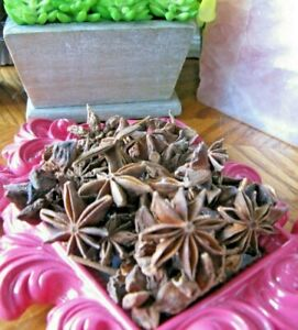New Natural Dried Whole Star Anise--1/2 Cup Size--Add To Potpourri!
