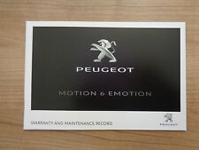 Peugeot NEW Service History Record Book