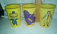 Vintage McDonald's Grimace Big Mac Ronald yellow plastic cups
