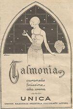 W1154 UNICA - Caramelle Talmonia - Pubblicità 1926 - Vintage Advert