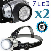 2x 1000LM LED Biking Hiking Headlamp Flashlight Torch Headlight Cree