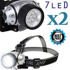 2x 1000LM LED Biking Hiking Headlamp Flashlight Torch Headlight Cree