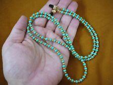 """E99-2) Chinese Turquoise gemstone beaded 32"""" long Eyeglass leash holder necklace"""