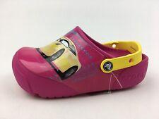 Crocs 204138 Girl's Light Up Disney Pixar Cars 3 Clogs Youth Size J 3, Pink 2586