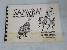 Vintage Samuri Wargame Rules an LWS Production By Sid & Ken Smith 1974  LL 406