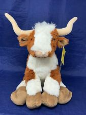 Build a Bear Longhorn Steer Bull Plush Brown White w/ Tags - Read Desc