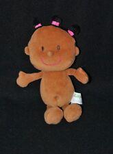 Peluche doudou poupée poupon LILLIPUTIENS brun cheveux noirs grelot 21 cm TTBE