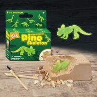 AU_ 2Sets Kid Glowing Dinosaur Skeleton Dig Excavation Archaeology Education Toy