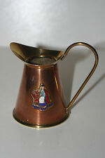 Old - Copper and Brass Small Jug - Llandudno - England - 8 cm Tall - Vg Cond