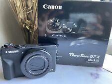 Canon Powershot G7X Mark III (Black) - W/Accessories (battery, Mount, Tripod)
