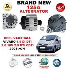 Per OPEL VAUXHALL VIVARO 1.9 DI DTI 2.0 16 V 2.5 DTi CDTi Alternatore 2001-ON 125 A