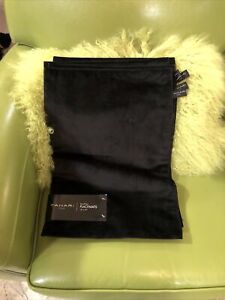 Tahari BLACK Velvet Solid Placemats Set of 4 New