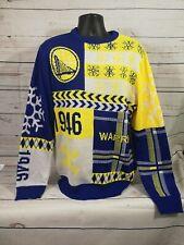 Golden State Warriors Sweater ~ Blue/Gold ~ NBA ~ Men's XL