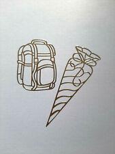 Stickerbogen, Schultüten, Schuleinführung, Schulanfang, Gold, Nr. 103