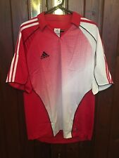 AdiDas Climacool Red And White New Polo Top Size Medium