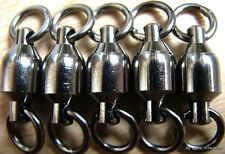 10Pcs  Black Ball Bearing SWIVEL bigger SIZE 10# for hook lure 1.8in/500LBS