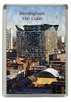 Birmingham The Cube - Manipulated Image Fridge Magnet Jumbo 90mm x 60mm Size