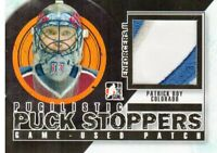 2013-14 ITG Enforcers Pugilistic Puck Stoppers Jerseys Patches Patrick Roy /20