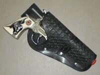 Hubley Western Cowboy Vintage Toy Cap Gun Steer Head Grip Red Star & Holster