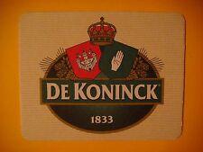 Beer Bar Pub Coaster - De Koninck Brewing - Antwerpen Belgium Brewery Since 1833