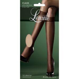 Levante Class Gloss Leg Look Knee Highs One Size Visone