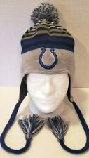 New Era Indianapolis Colts Beanie PomPom Ear Flap Hat Fleece Lined