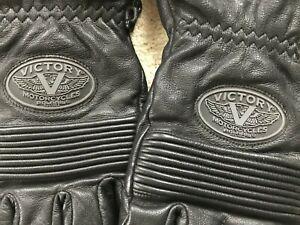 Victory Motorcycle gloves - Men's - Black - Sz Large
