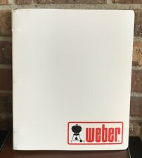 1996 Weber 3 Ring Binder Platinum Series Gas BBQ Grill Owners Manual & Cookbook