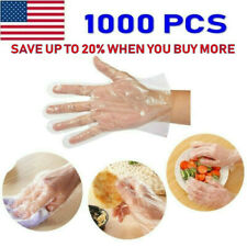 1000pcs Plastic Disposable Gloves Restaurant Home Service Catering Food Hygiene