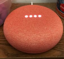 Google Home Mini Voice-Activated Wireless Bluetooth Speaker - Coral