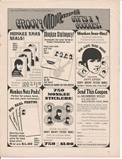 1967 Monkees TV Show Promotional Products Advertisement