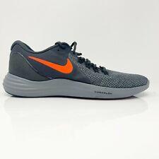 Nike Mens Lunar Apparent 908987-006 Grey Crimson Running Shoes Lace Up Size 10.5