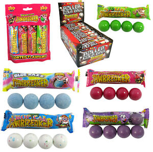 Jawbreaker Hard Candy With A Bubble Bubblegum Sweets Assorted Full Box Of 30x