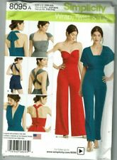 Simplicity#8095 OOP Knit Wrap and Tie Jumpsuit  Pattern Sz XXS_XXL (4-26) UC