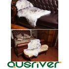Premium Australia Sheepskin Long Wool Rug Mat Cushion Sofa Seat Cover BlackPoint