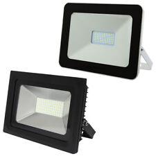 50W LED Floodlight Outdoor Security Flood Light White or Black Body Slimline LED