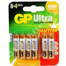 48 GP ULTRA AAA LR03 Batteries LR03 1.5V ALKALINE HIGH PERFORMANCE 4 packs 12