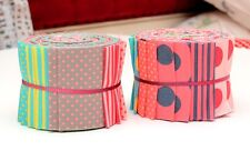 "Scrumptious Honey Sweet Quilt Jelly Roll Polka Dot 20 Strips 2.5x44"" Pastel"