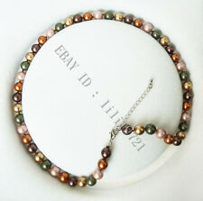 "8mm AAA Multicolor south sea shell pearl necklace 18"" LL009"