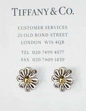 Tiffany & Co Paloma Picasso18Ct 18k Gold Silver Daisy Flower Stud Earrings