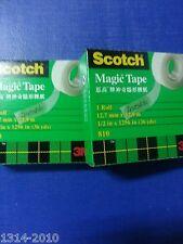 2 rolls x Scotch Brand Tapes 3M 810 Magic Tape Refill 1/2 inch x 36 yds