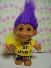 "WORLD'S BEST BABYSITTER - 5"" Russ Troll Doll - NEW IN ORIGINAL WRAPPER"