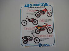 advertising Pubblicità 1981 MOTO BETA 125 CR CROSS/TRIAL/RCE/SCRAMBLER